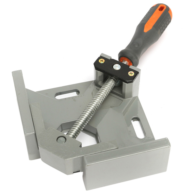 MTGATHER Aluminum Alloy Die-casting 90 Degrees Corner Clamp Right Angle Woodworking Vice Wood / Metal Weld / Welding corner clamp angle vise 90 angle great diy home handle tool 100% aluminum alloy corner clamp workbench