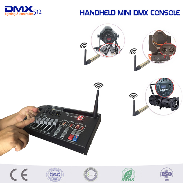 DHL Free shipping Handheld MINI 54ch wireless dmx console for home KTV DJ stage light can  sc 1 st  AliExpress.com & DHL Free shipping Handheld MINI 54ch wireless dmx console for home ... azcodes.com