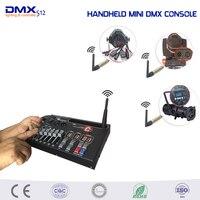 Venta MINI controlador inalámbrico DMX de mano para el hogar KTV DJ Luz de escenario puede utilizar la consola de iluminación de escenario de movimiento de batería de 9V
