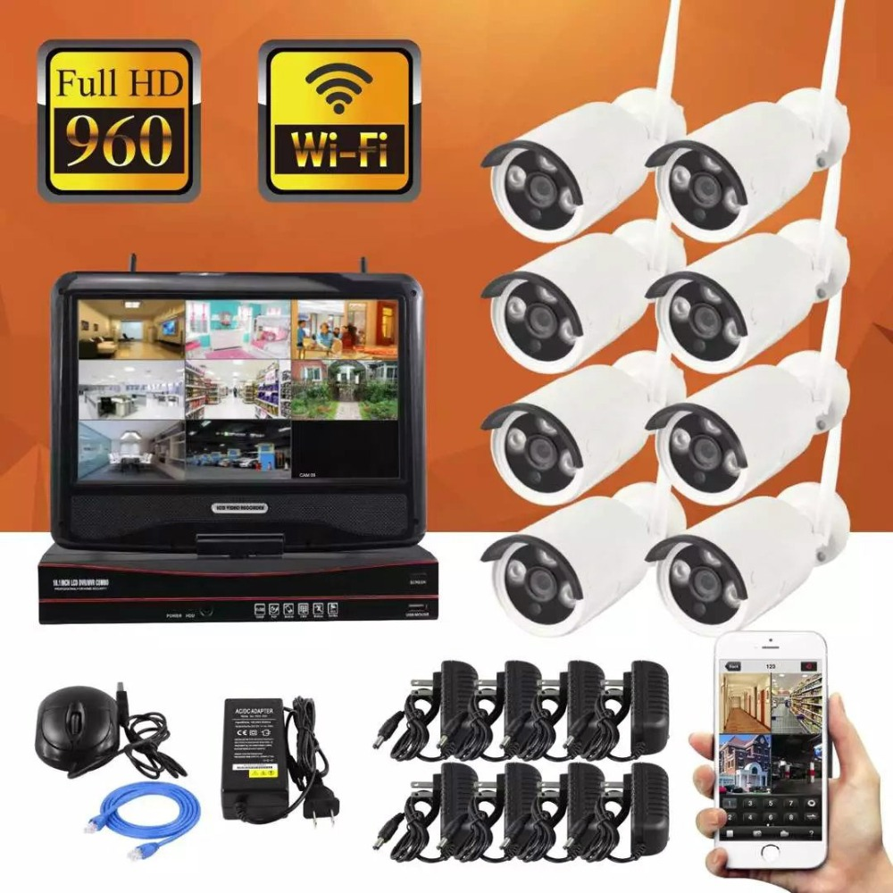 8CH 960P HD Wifi NVR Kit Audio Record CCTV Camera System 1.3MP Waterproof Wireless Security Camera System 8 Cameras8CH 960P HD Wifi NVR Kit Audio Record CCTV Camera System 1.3MP Waterproof Wireless Security Camera System 8 Cameras