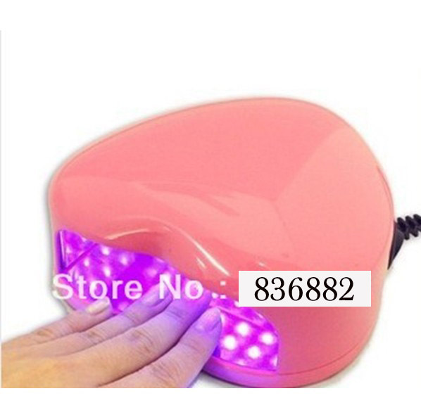 Hot Sell Free Shipping New Long Life 9W 110V-220V LED Nail Lamp Gel Curing Heart Shape Nail Dryer