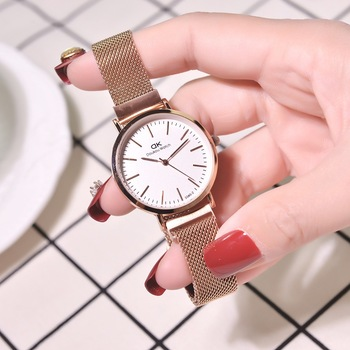 Magnetic Watches 2019 Women Fashion Luxury Rose Gold Stainless Steel Watch With Mesh Strap Quality Classic Ladies Wristwatches
