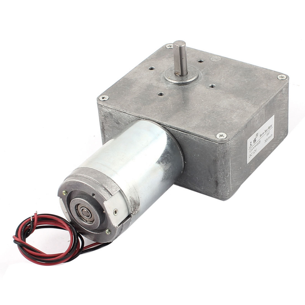 Newest DC 12V 30RPM/14RPM 8mm Shaft High Torque Reversible Turbine Worm Gear Motor Reduction Electric GearBox Motor Accessory цены