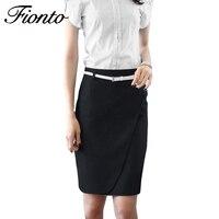 Women Skirts 2018 Business Attire Solid Color Pencil Midi Skirt Female Summer High Waist Bodycon Ms