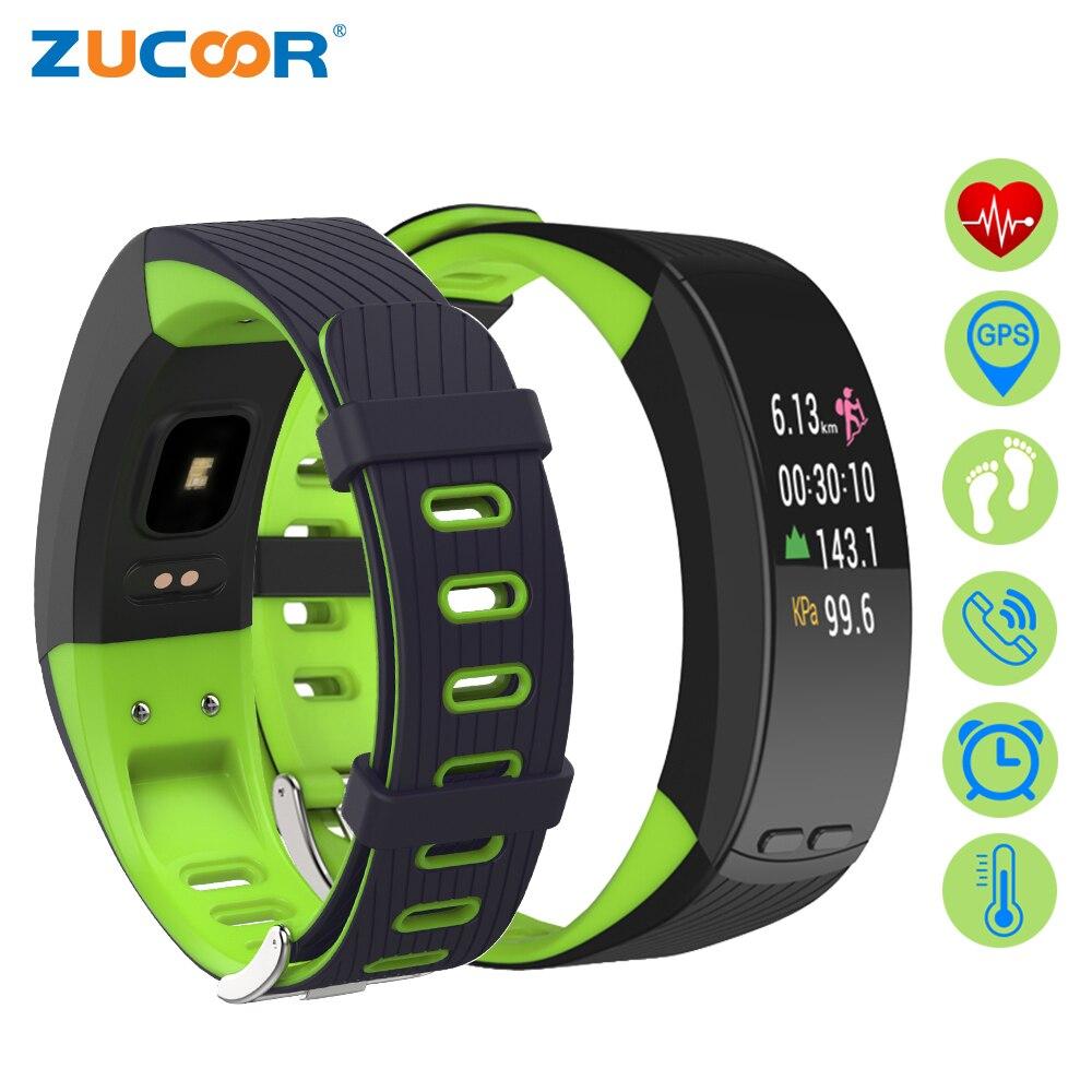 ZUCOOR GPS Intelligente de Remise En Forme Bracelet Pulse Moniteur Cardiaco Smartband Stappenteller Horloge Électronique Activité Homme Dispositifs Portables