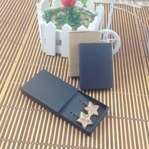 Image 4 - Sieraden kaart 100 stks + 100 pcsbox 7.5*5.4*1.2 cm Gift Hangend Match Oorbel Case, Custom Logo: 1000 stks Kosten Extra Zeep Sieraden Doos