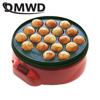 DMWD Non Stick Electric Takoyaki Maker Barbecue Quail Egg Baking Pan Grill Chibi Maruko Machine 18 Holes Octopus Meatball Cooker