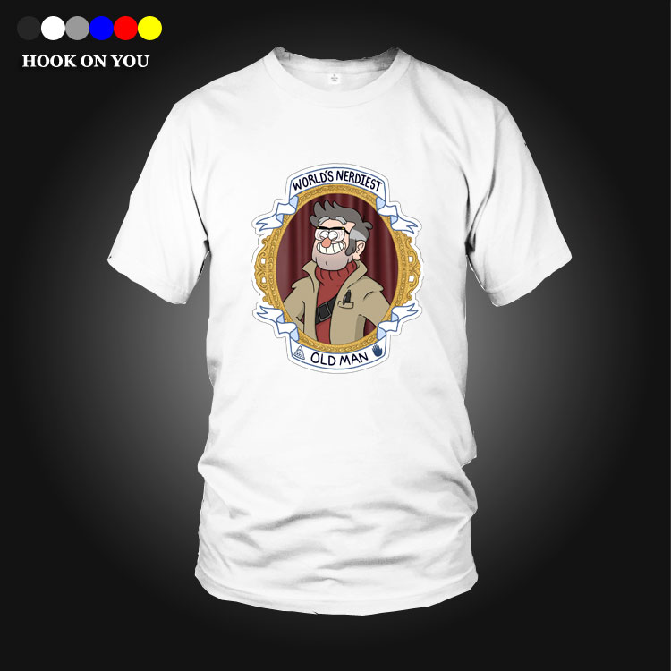 cute shirt Gravity Falls Mystery Attack T shirts Summer pure cotton Casual Man Tees Fashion Normal o-neck short sleeve T-shirts