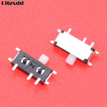 Cltgxdd 1 pcs Mini Toggle Switch 7pin ON/OFF SPDT 1P2T MSK-12C02 Switch Slide SMD Para MP3 MP4(China)