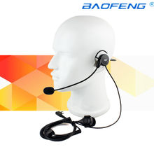 Advanced Unilateral headphone Mic Finger PTT Neckband Earpiece Cycling Field Tactical Headset for Kenwood BAOFENG Radio(China)