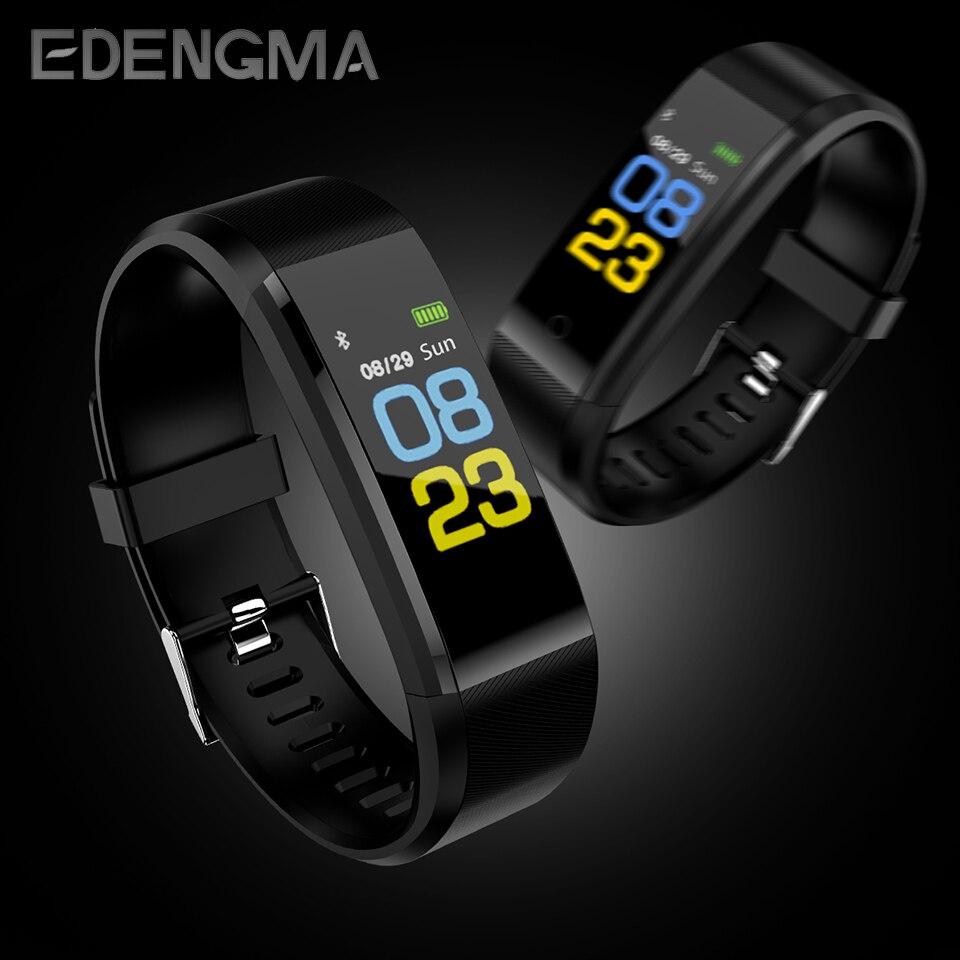 EDENGMA Color pantalla Smart Wristband B05 impermeable IP67 pulsómetro Sport Fitness Braccialetto Inseguitore Smartband Bl