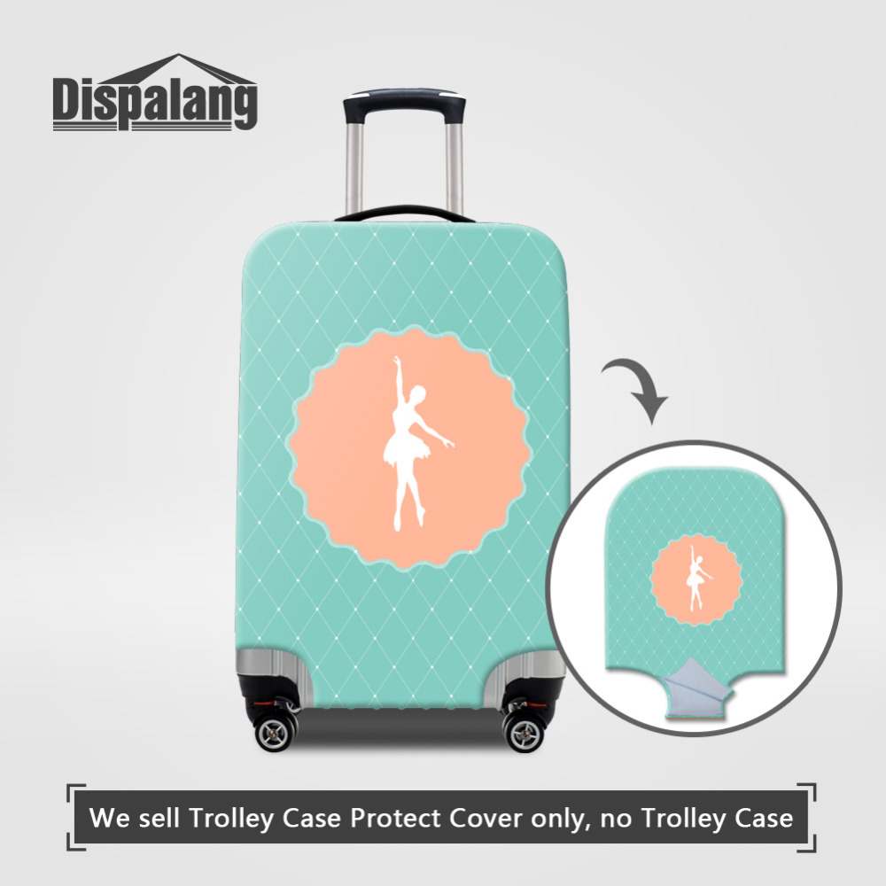 Dispalang Ballet Girls Travel Suitcase Cover Anti-dust Waterproof Luggage Protective Cover For 18 20 22 24 26 28 30 Inch Case