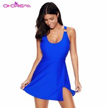 OHDREAM Women Swiming Short Skirt One Piece Swimsuit Bathing Suit Sexy Beach Wear Push Up Swimwear Slimming Summer Day -G(China)