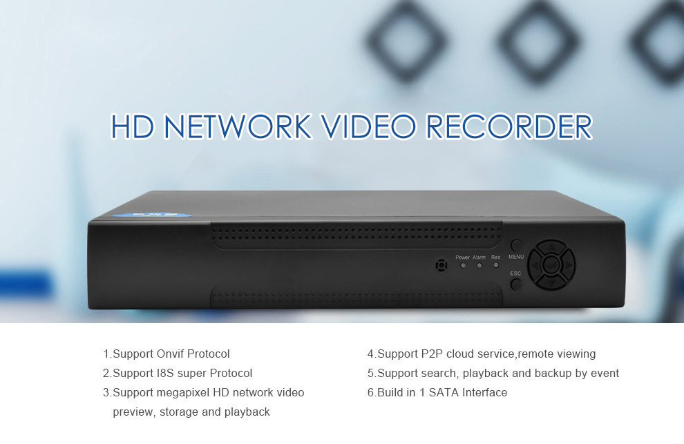 Wistino 1080P 4pcs IP Camera CCTV Security System Kit Night Vision 8CH NVR Recorder Surveillance Monitor Kits H.265 XMeye 720P 960P (15)