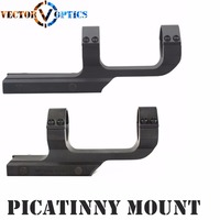 Vector Optics Tactical 30mm One Piece Scope Offset Picatinny Mount Integral Rings .223 5.56 Long Flat Top Mil spec Matte Black