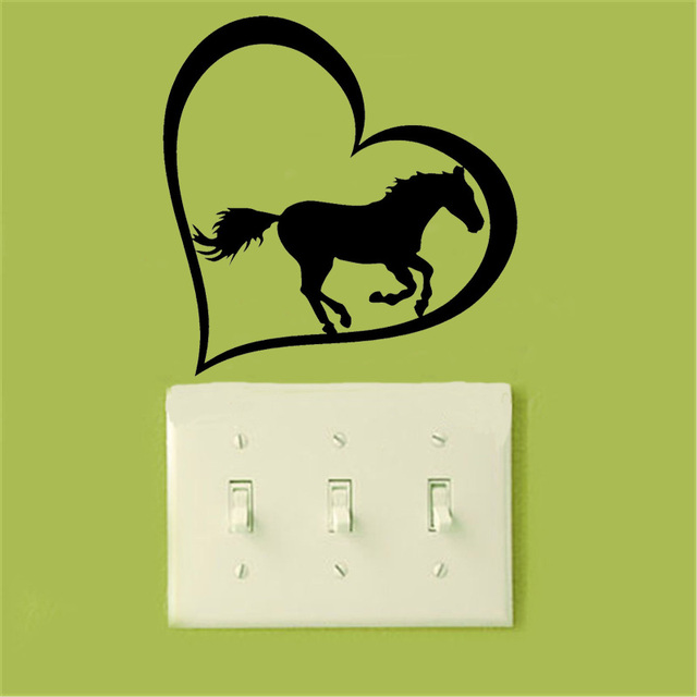 Us 093 40 Offnette Liebe Symbol Pony Schalter Aufkleber Cartoon Auto Styling Vinyl Wandaufkleber 2ws0143 In Nette Liebe Symbol Pony Schalter
