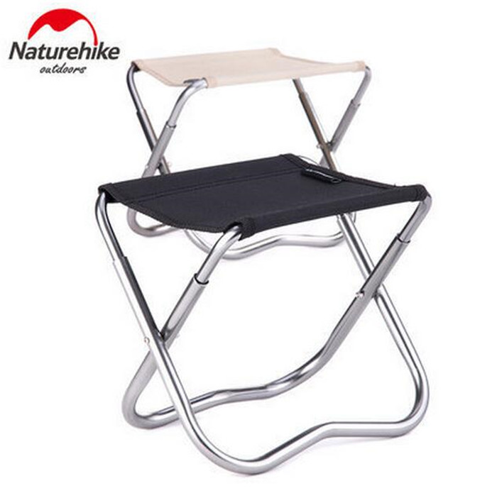 Naturehike 1pcs Outdoor Fishing Chairs Portable Chair Folding Stool Travel Camping Barbecue Beach Backrest