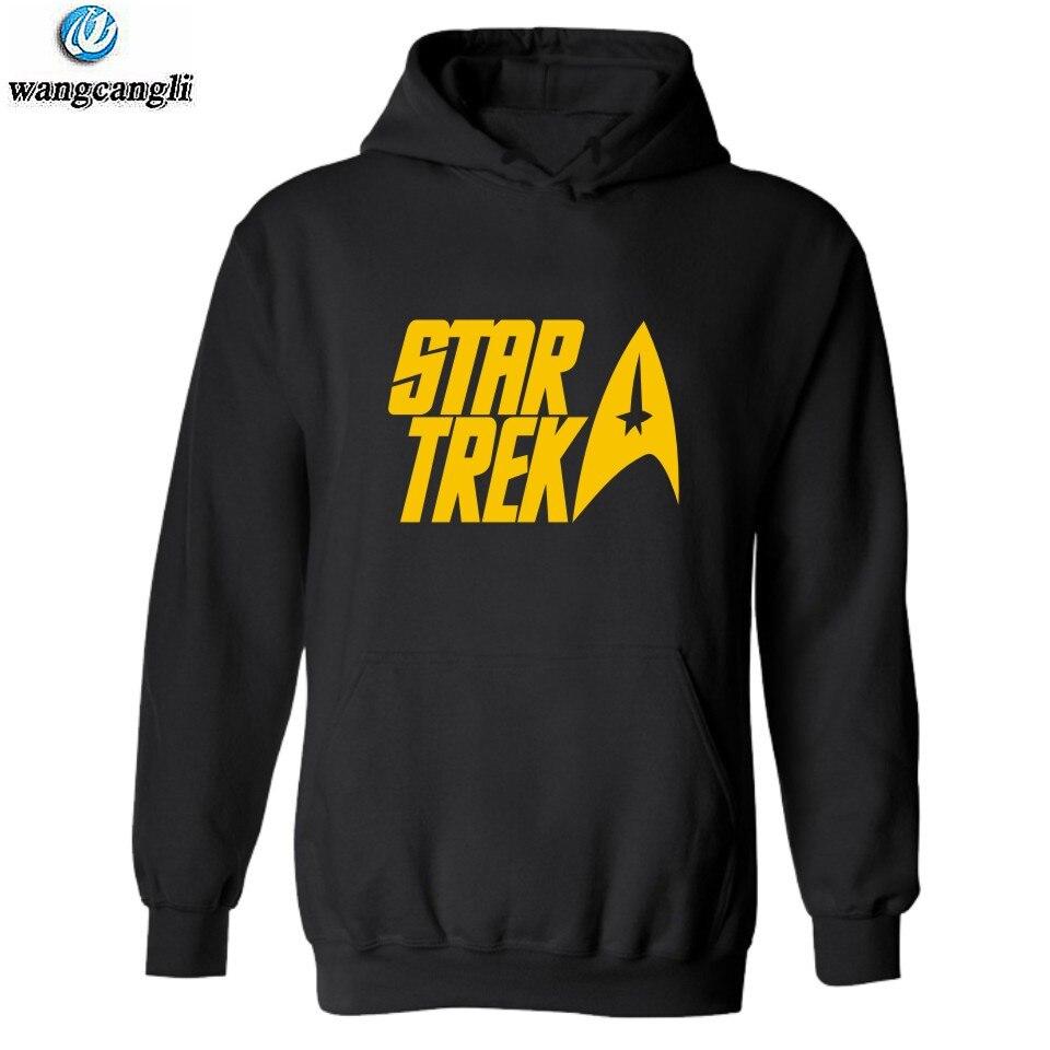 Mens Hoodie Moive Star Trek Printed Hoodies Fleece Pullover Jacket Coat Winter Skate Mens Sweatshirt Hip Hop Overcoat Homme