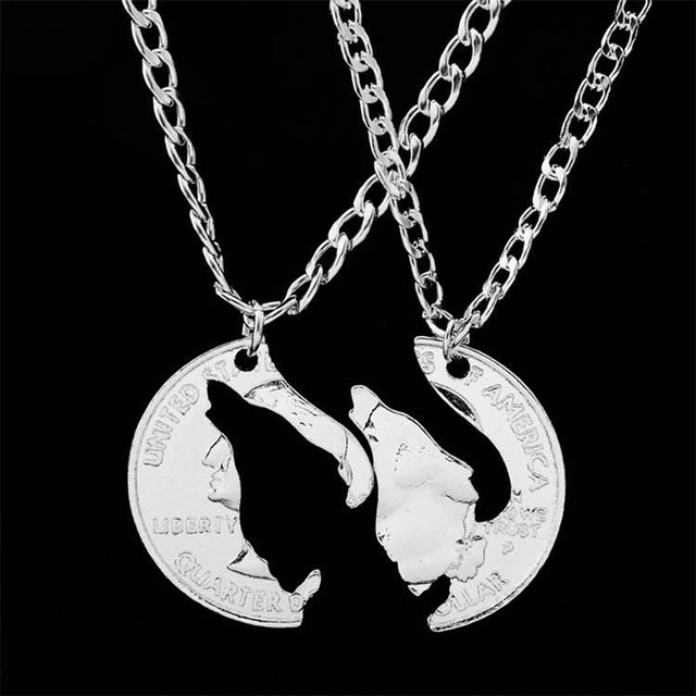 2pcsset howling wolf pendant necklace round coin puzzle lover 2pcsset howling wolf pendant necklace round coin puzzle lover mosaic necklace pendants necklaces jewelry mozeypictures Choice Image