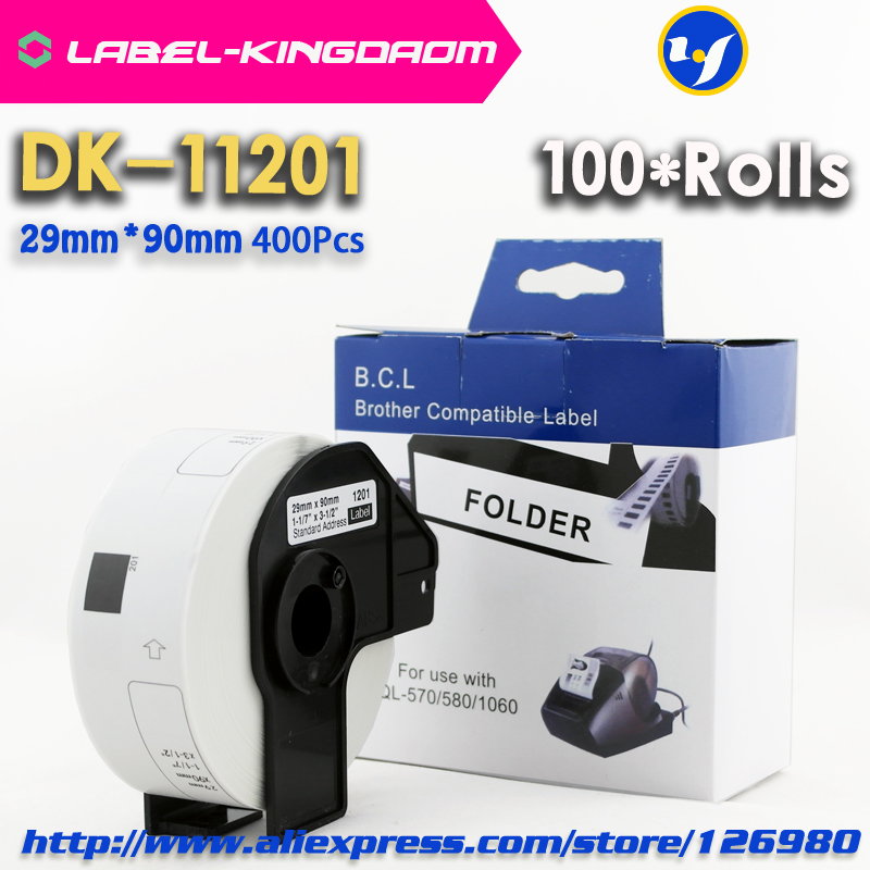 100 Rolls Compatible DK 11201 Label 29mm 90mm Compatible for Brother Label Printer All Come With