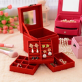 Top Quality Cheap Jewelry Storage Box for Gift, 3 Style Coin Earphone Creative Boxes Case Desk Organizer Boite De Rangement