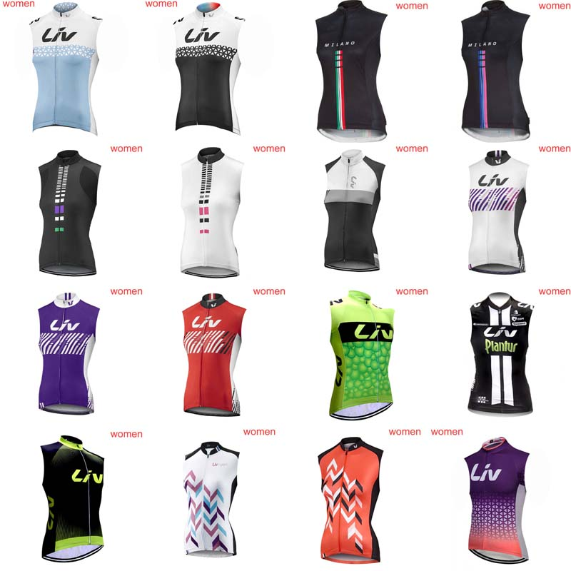 Liv Summer Women Cycling Sleeveless jersey Mountain Bike Clothing Breathable Quick dry Racing Clothes Clothing H0806 otwzls cycling jersey 2018 set mountain bike clothing quick dry racing mtb bicycle clothes uniform cycling clothing bike kit
