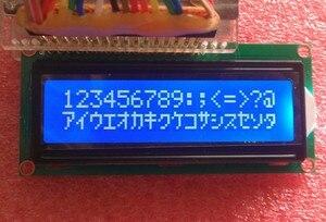 Image 3 - Freies Verschiffen 10PCS LCD1602 1602 modul Blauen bildschirm 16x2 Zeichen LCD Display Modul HD44780 Controller blauen schwarzlicht