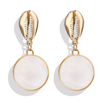 Geometric Shell Earrings For Women Earrings Jewelry Women Jewelry Metal Color: CS190705081