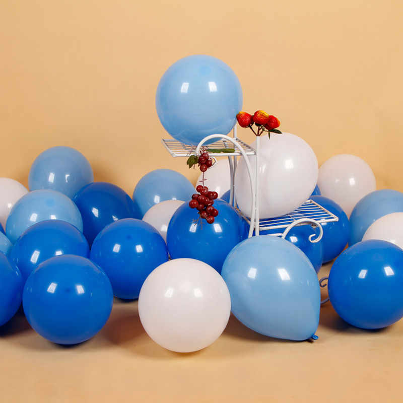 10pcs 12inch Confetti Balloon Christmas Decorations Home Wedding Balloon Baby Shower Ballon Anniversaire Blue Birthday Balloons
