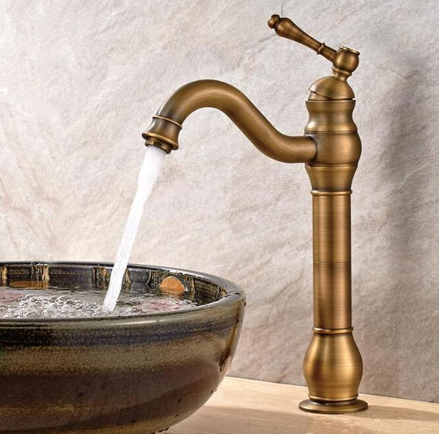 Free Shipping Bathroom Faucet Antique Basin Luxury Sink Mixer High