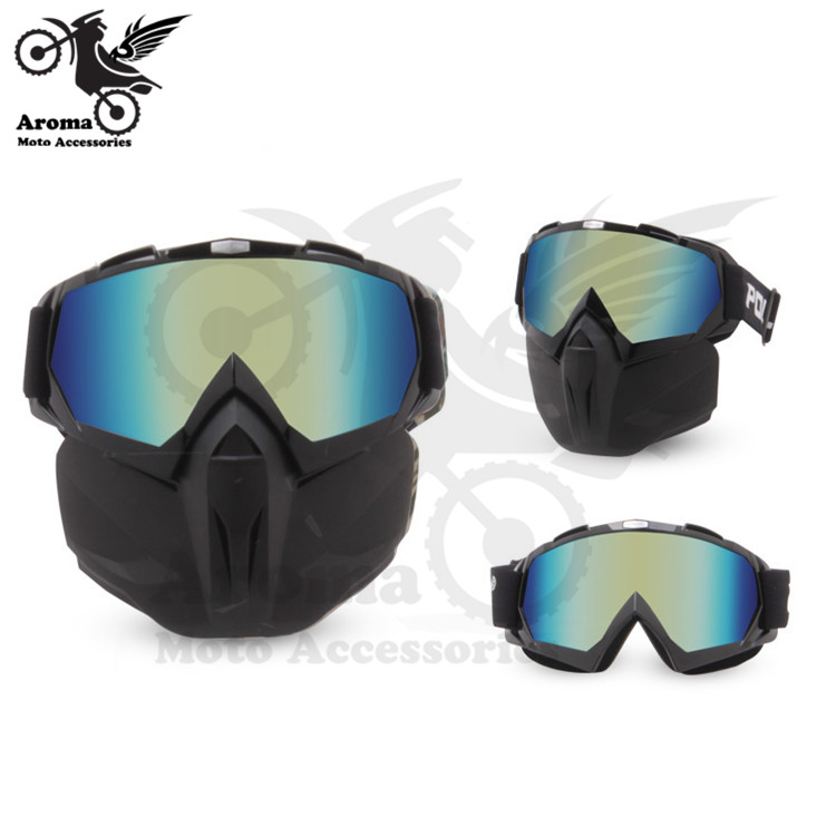 Coloré clair lentille moto rbike protection des yeux moto universelle dirt pit vélo tout-terrain course moto rcycle lunettes moto cross goggle - 3