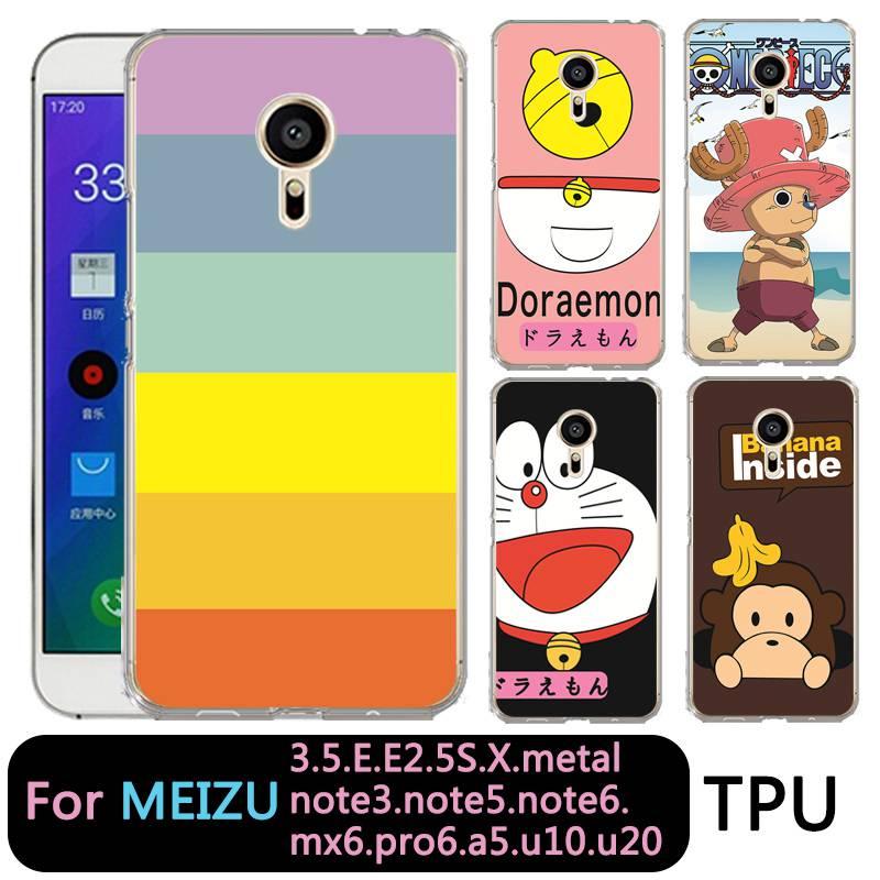 QMSWEI TPU Soft Phone Case For Meilan MX6 pro6 u20 E2 m3 M5 M5s metal Note3 U10 Clear One Piece Doraemon Cover Free Shipping