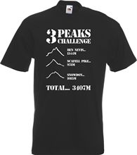 Three 3 Peaks Challenge T-Shirt Walking Ben Nevis Snowden Scafell Pike Mountain  New T Shirts   Unisex Funny Tops free shipping hoyle t the challenge