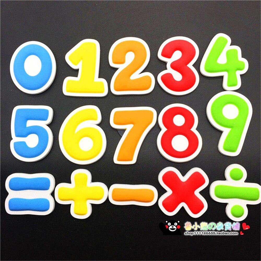 15 pièces/ensemble chiffres mathématiques symbole réfrigérateur aimant éducation jouet pour enfants réfrigérateur magnétique Message autocollants décoration de la maison