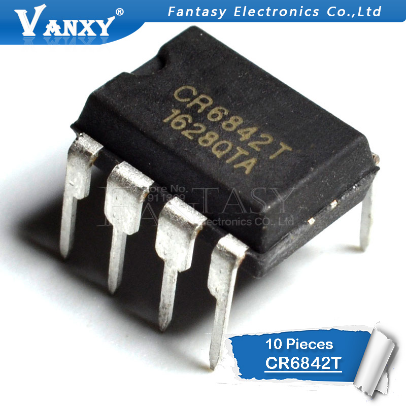10PCS CR6842T DIP8 CR6842 DIP 6842T DIP-8
