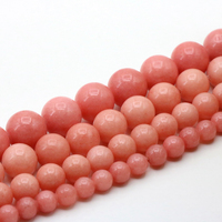 Wholesale Pink Jasper 6 8 10 12mm Size Optional Round Loose Beads 15inch DIY Suitable For