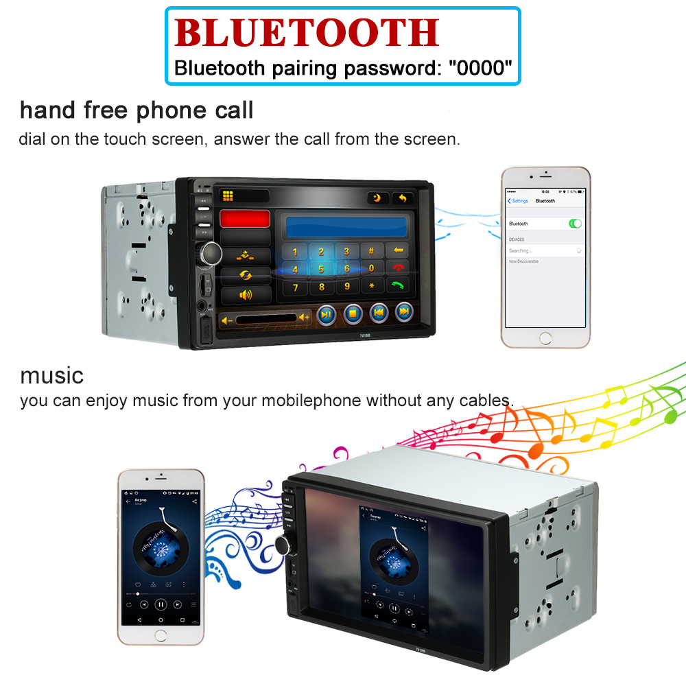 """7\"""" hd touch screen car stereo mp4 mp5 player 2 din bluetooth 3 0 in7\"""" hd touch screen car stereo mp4 mp5 player 2 din bluetooth 3 0 in dash aux fm radio usb sd audio video player fm radio in car mp4 \u0026 mp5 players from"""