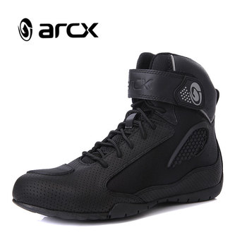 ARCX Motorcycle Boots Female Moto Riding Boots Breathable Motorcycle Shoes Motorbike Biker Chopper Cruiser Touring Ankle Shoes
