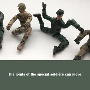 Image 2 - 10cm צבאי כוחות מיוחדים חיילים לבנים דמויות אבני בניין רב משותף מטלטלין צעצוע חייל עם קישוט צעצוע