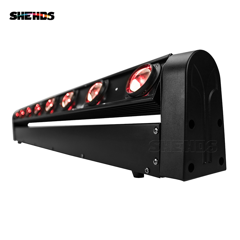 SHEHDS HOT Sale Perfect LED Beam Moving Head Light Sound Bar 8x12W RGBW Stage Lighting DMX512 DJ Equipment Free&Fast Shipping