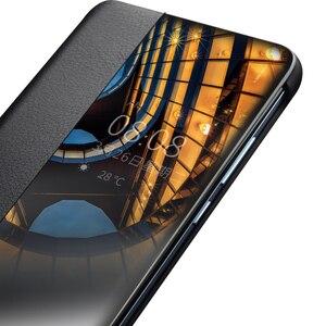 Image 3 - Ультратонкий флип чехол QIALINO из натуральной кожи для Huawei P30 Pro, 6,47 дюйма, чехол ручной работы для телефона с умным просмотром для Huawei P30