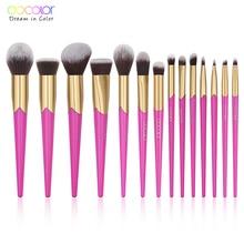 Docolor 14 個美容メイクブラシセット化粧品 · ファンデーション · パウダーアイシャドウ眉毛リップブラシキット Maquiagem