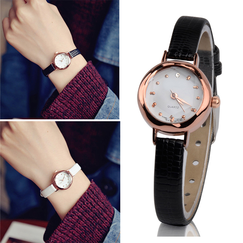 high quality women quartz watch leather strap small dial. Black Bedroom Furniture Sets. Home Design Ideas