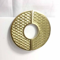 Fish scale solid brass handle cabinet pulls gold cabinet handles pull out copper knob modern wardrobe handle