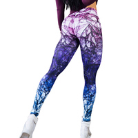 New Printed Sporting Pants Women Fitness Leggings High Waist Push Up Sexy Fitness Clothing Elastic Workout