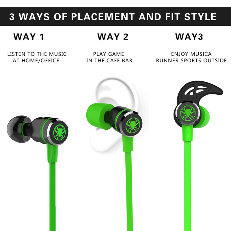 Newest Original PLEXTONE G20 In-Ear earphones with Mic Noise Reduction Game Magnetic Adsorption Stereo music sport earphones
