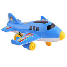 New 6Pcs Electric Airplanes Toys Push and Go Plane with Music and Light Toys for Children Early Educational Development Toy
