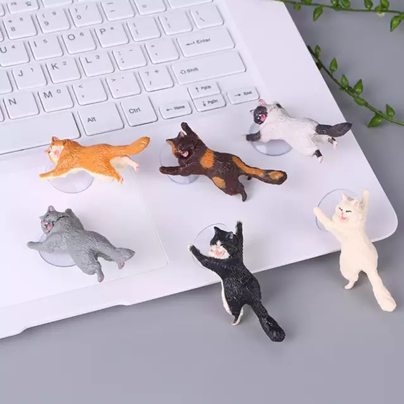 Universal Phone Holder Cute Cat Support Resin Mobile Phone Holder Stand Sucker Tablets Desk Sucker Design Smartphone Holder in Phone Holders Stands from Cellphones Telecommunications