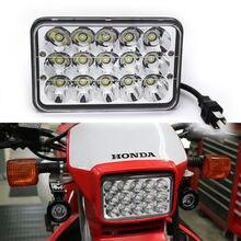 """1 יחידות 4X6 """"המרת מנורת LED פנס להונדה XR250 XR400 XR650 & Suzuki DRZ החלפת H4651 H4652 H4656 H4666 H6545"""