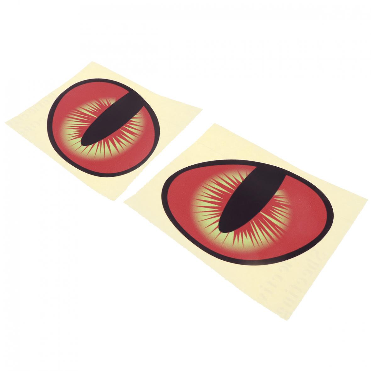2pcs 10 x 8CM Waterproof 3D Eye Pattern Reflective Material Creative Funny Stereoscopic Car Sticker Accessories